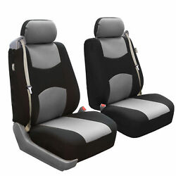Custom Fit Seat Cover For Ford F-150 2004-08 Front Pair Built-in Seat Gray