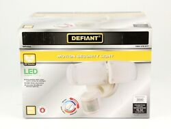 Defiant 270-degree Motion Activated Outdoor Security Light Triple Head White