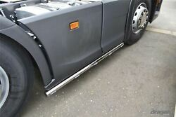 Side Bars + Leds For New Generation Scania R Series 6x2 2019+ Stainless Skirts