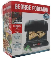 George Foreman 4 Serving Removable Plate Electric Indoor Grill Panini Press NEW