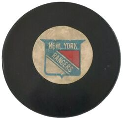 1969-77 New York Rangers Vintage Nhl Converse Official Game Puck Art Ross 🇺🇸