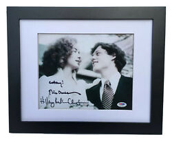 Psa/dna 42nd President Bill And Hillary Clinton Signed Autographed Framed Photo