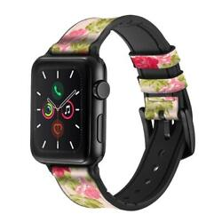 Ca0549 Pretty Rose Cottage Flora Apple Watch Band Strap For Iwatch Series