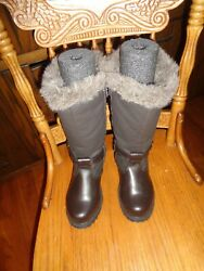 TOTES BOOTS PREOWNED SIZE 6 BROWN $20.00