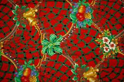 1+ Yards Victorian Decorations Red Christmas Cotton Quilting Fabric 53 X 44