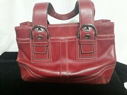 Red coach purse leather $22.00