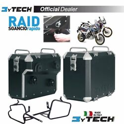 Suitcases Mytech Raid Black 47l +41l And Frames Honda Crf 1000 Africa Twin