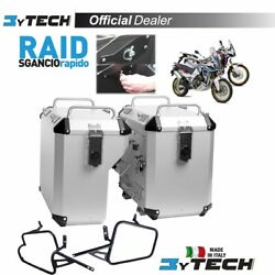Suitcases Mytech Raid Silver 47l 41l And Frames Honda Crf 1000 Africa Twin