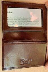Rare Standard And Poor's Primo Men's Wallet Calf Skin Leather Business Card Case
