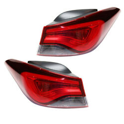 For 11-16 Elantra Usa Built Outer Taillight Taillamp Rear Light Led Set Pair