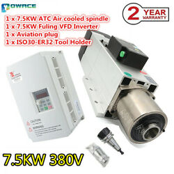 7.5kw 380v Air Cooled Spindle Motor Atc Automatic Tool Change Iso30 W/ 7.5kw Vfd