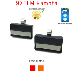 2 For Liftmaster 971lm Button Car Garage Door Opener Remote Control 390mhz New