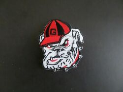 GEORGIA BULLDOGS*NCAA RED amp; BLACK EMBROIDERED IRON ON PATCHES 2 1 2 X 2 7 8