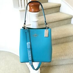 New Coach Town Bucket Bag Crossbody 91122 Aqua Shamrock $169.99