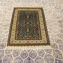 Yilong 2.5and039x4and039 300 Lines Blue Living Room Rugs Hand Knotted Silk Carpets 264h