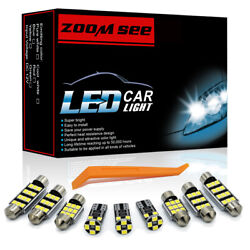 10pc Led Plate Interior Dome Lights For Mazda 3 14-19 Indoor Car Mirror Bulb