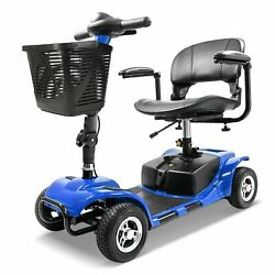 New Innuovo Folding Electric Powered Mobility Scooter 4 Wheel Travel Blue