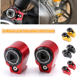 2pcs Motorcycle Rear Shock Arm Absorber Cover Spools Slider Stand Screws M8/m10