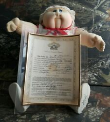 Xavier Roberts 1984 Original Soft Sculpture Cabbage Patch Doll And Adoption Paper