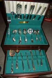 Set 71pc Tudor Plate Silverplate Flatware Service For 8 Oneida Community In Case