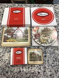 Pimpernel English Cottages Coasters, Place Mats, Casserole Cork Made In England