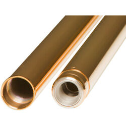 Custom Cycle Engineering Fork Tubes - Gold - 39 Mm - 26.25'   T 1346tn