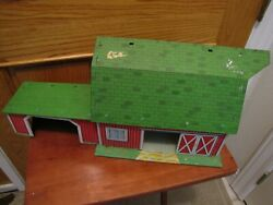 Marx Lazy-days Farm Barn From Playset Vintage Tin Metal Toy Play Set Lithograph