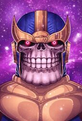 Mike Mitchell - Limited Edition Marvel Print - Thanos