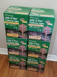 6 New - Malibu Led 3-tier Pathway Light - Real Copper
