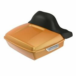 Hard Candy Gold Flake Chopped Tour Pack Wrap-around Backrest For 97-20 Harley