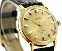 Vintage Omega Sea-master Olympic 1956 18ky Solid Gold Automatic Menand039s Watch