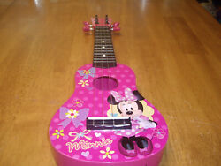 Euc First Act Minnie Mouse Pink Small 4 String Guitar Or Ukulele Toddler 20