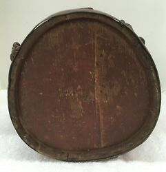 Revolutionary War Wooden Canteen 1775-1783 From A Soldier From Ireland