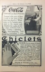1907 Coca Cola Business Man Enjoying A Coke Ad - Also Chiclets .page Size 6 X 10