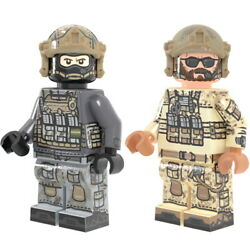 Lego Brickmania Modern Russian Special Forces And Us Navy Seal Minifigures New