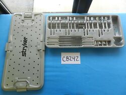 Stryker Surgical Orthopedic Cutter Accessory Instrument Set W/ Case 2