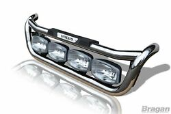 Grill Bar + Step Pads + Side Leds For Volvo Fe 06 - 13 Polished Stainless Steel