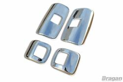 Mirror Chrome Covers For Mercedes Axor Stainless Steel Truck Accessories 4pc Set