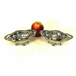Pair Of Gorham Sterling Silver Open Work Footed Bowls