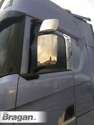 Mirror Chrome Covers For New Generation Scania R S Series 2017+ Stainless Steel