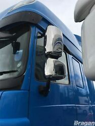 Mirror Covers For Daf Cf 2007-2013 Truck Lorry Polished Stainless Steel 4pc Set