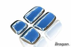 Side Mirror Covers For Daf Xf 106 2013+ Truck Stainless Steel 4 Pcs Chrome Set