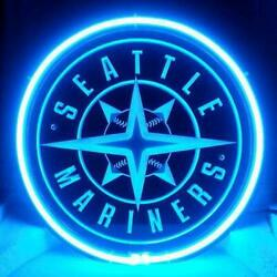 12x12 Seattle Mariners 3d Carved Neon Sign Beer Bar Lamp Light Decor Artwork