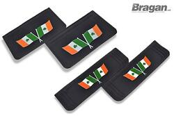 Front And Rear Mud Flaps Embossed Uv Rubber Ireland Flag 4pc Mud Guards Shield