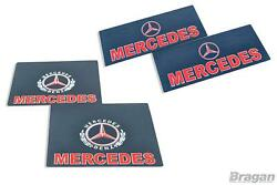 Mud Flaps For Mercedes Truck Front And Rear Uv Rubber Shield 4pc Mud Guard Red Set