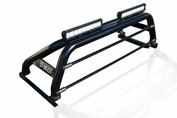Roll Bar + Leds + Light Bars + Tonneau Cover For Isuzu D-max Rodeo 2016+ Black