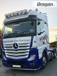 Roof Bar + Flush Leds + Spots For Mercedes Actros Mp4 Big Space Stainless Steel