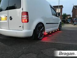 Side Bars + Amber Led For Vw Caddy 2010 - 2015 Stainless Steel Step Tube Skirts