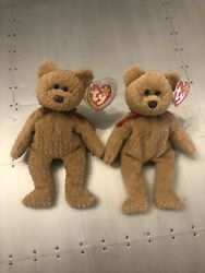 🔥lot Of 2 Beanie Babys Curly Rare 1996 With Many Errors Pvc🔥 Read Description