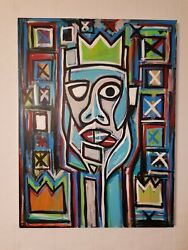 Modern Abstract Art Signed A. Gomez Oil Painting